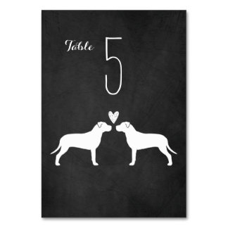 Pit Bulls Wedding Table Card