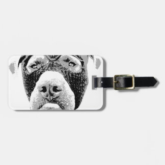 PIT BULLS WILL STEAL YOUR HEART BAG TAG