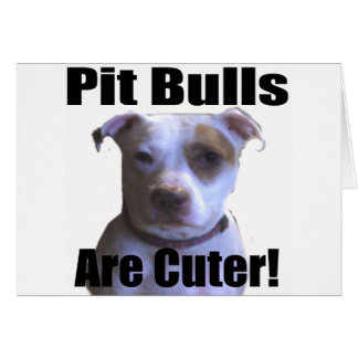 pit buls are cuter card