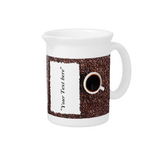 Pit Cher with Kaffemotiv and text field Drink Pitcher