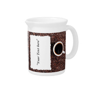 Pit Cher with Kaffemotiv and text field in front Pitcher