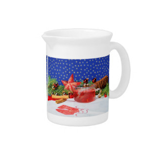 Pit Cher with motive for Christmas Drink Pitcher
