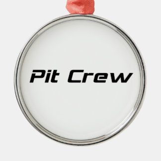 Pit Crew By Gear4gearheads Round Metal Christmas Ornament