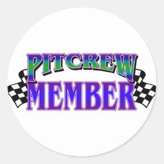 Pit Crew Member Sticker