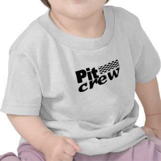 Pit Crew (Racing Flag) T-shirts