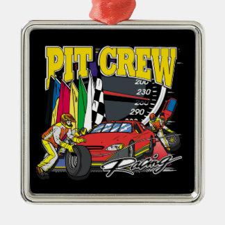 Pit Crew Racing Metal Ornament