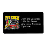 Pit Crew Racing Shipping Labels