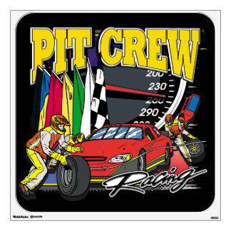 Pit Crew Racing Wall Sticker