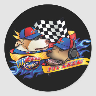 Pit Crew Round Sticker