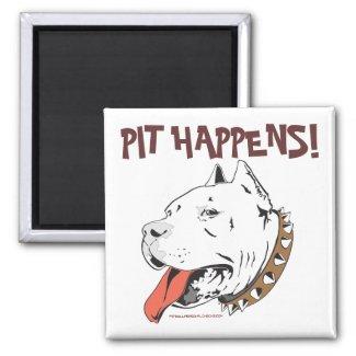 Funny Pit Bull Terrier Fridge Magnet