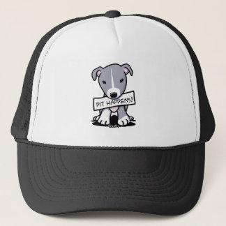 Pit Happens Pit Bull Dog Art Trucker Hat