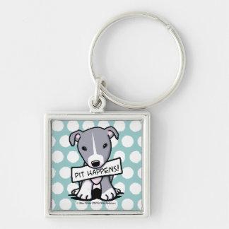 Pit Happens Pit Bull Dog Keychain