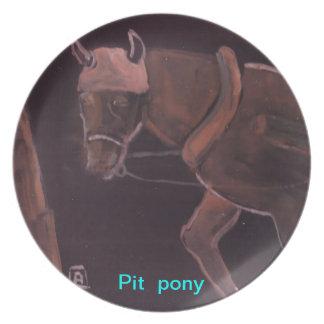 Pit pony plate