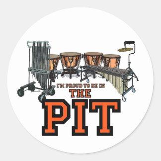 Pit Pride Round Stickers