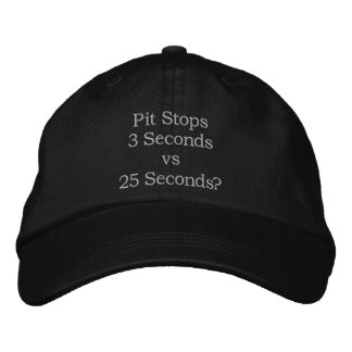 Pit Stops Racing Hat Embroidered Hats