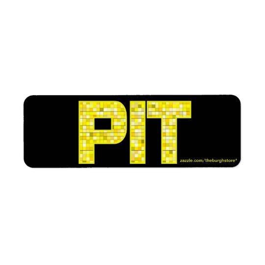 PIT Tile Return Address Stamp Label