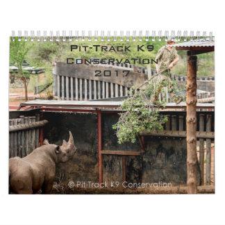 Pit-Track k9 Conservation 2017 Calendar