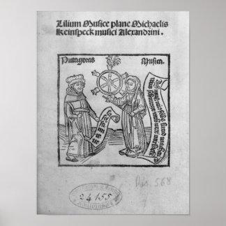 Pitágoras y música póster
