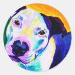 Pitbull #1 etiquetas redondas