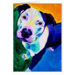 Pitbull #1 tarjeta de felicitación