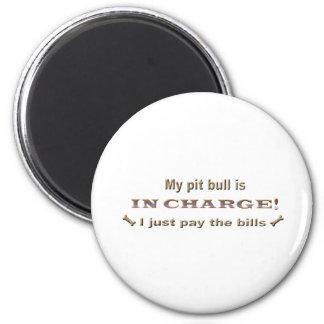 pitbull 2 inch round magnet