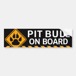 Pitbull a bordo pegatina para coche