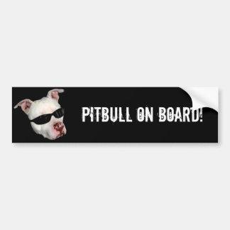 Pitbull a bordo pegatina para el parachoques pegatina para auto