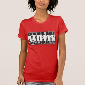 Pitbull Advisory, Black on color T Shirt