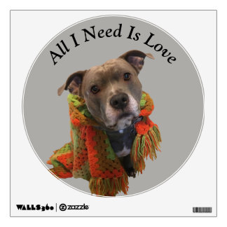 Pitbull All I Need is Love Wall Decal