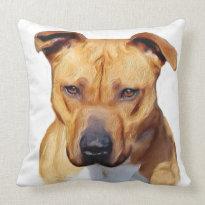 Pitbull American MoJo throw pillow