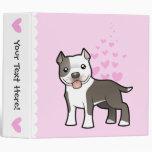 Pitbull / American Staffordshire Terrier Love 3 Ring Binder
