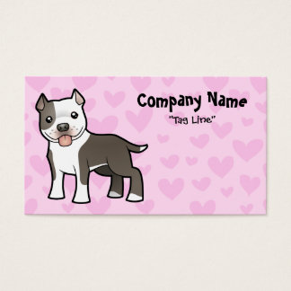 Pitbull / American Staffordshire Terrier Love Business Card