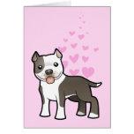 Pitbull / American Staffordshire Terrier Love Greeting Card