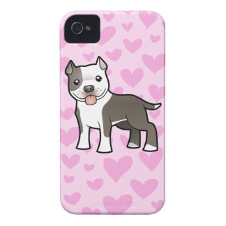 Pitbull / American Staffordshire Terrier Love iPhone 4 Case-Mate Case