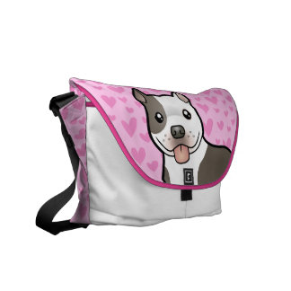Pitbull American Staffordshire Terrier Love Courier Bag