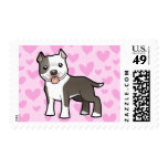 Pitbull / American Staffordshire Terrier Love Postage Stamps