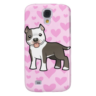 Pitbull / American Staffordshire Terrier Love Samsung Galaxy S4 Covers