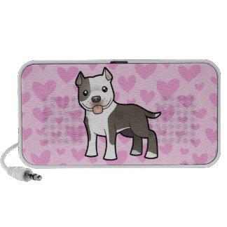 Pitbull/amor de Staffordshire Terrier americano iPhone Altavoz