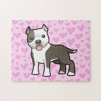 Pitbull/amor de Staffordshire Terrier americano Rompecabezas
