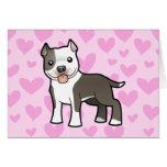 Pitbull/amor de Staffordshire Terrier americano Tarjeta De Felicitación