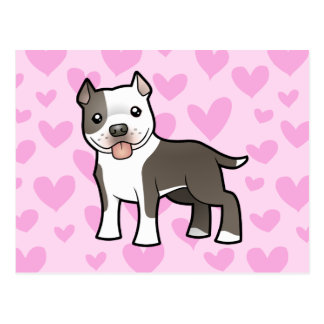Pitbull/amor de Staffordshire Terrier americano Postal