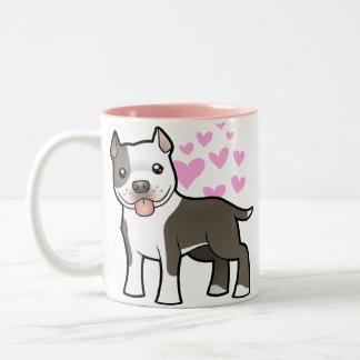 Pitbull/amor de Staffordshire Terrier americano Taza De Café