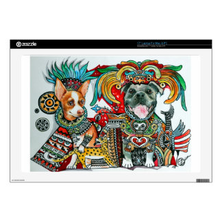 Pitbull and Chihuahua Decal For Laptop