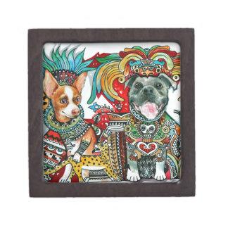 Pitbull and Chihuahua Jewelry Box