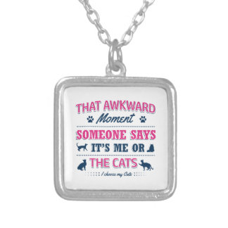 Pitbull Awkward moment Silver Plated Necklace