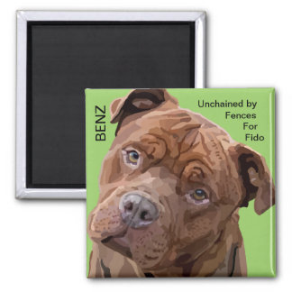 "Pitbull ""Benz"" Fences For Fido Magnet"