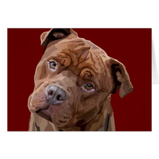 "Pitbull ""Benz"" Greeting Card"