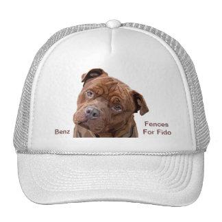 "Pitbull ""Benz"" of Fences For Fido Cap Hats"