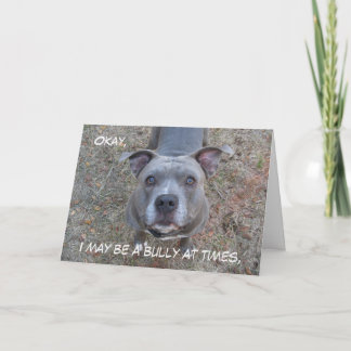 Pitbull Best Mom Mother's Day Card