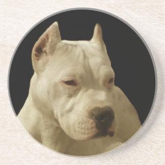 Pitbull blanco Terrier Posavasos Para Bebidas